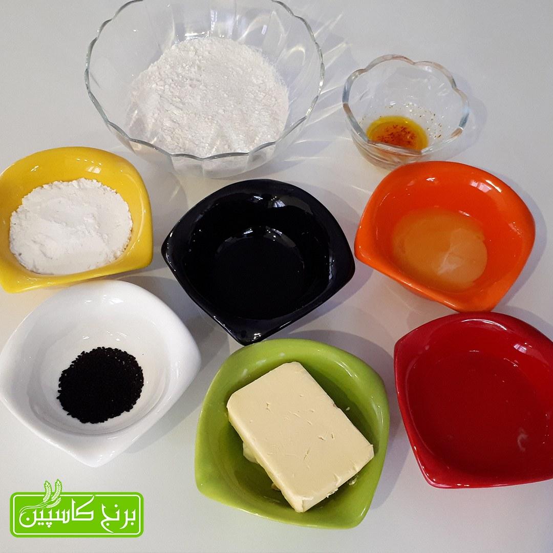 مواد لازم شیرینی برنجی با کره